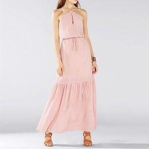 BCBGMAXAZRIA Analeigh Striped Maxi Halter Dress